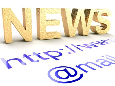 Internet news. The abstract text on a white background.