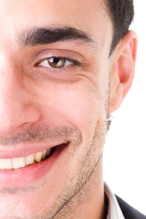 beautiful smiling man close up on a white background Stock Photo - 3422188