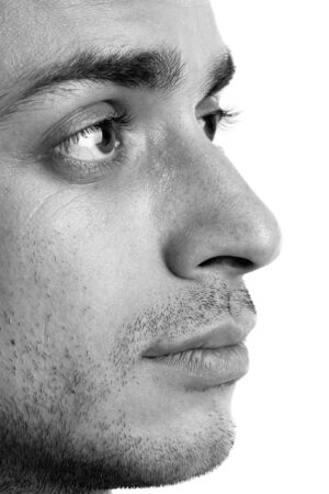 Profile. Beautiful man. The face close up. Stock Photo - 3506167