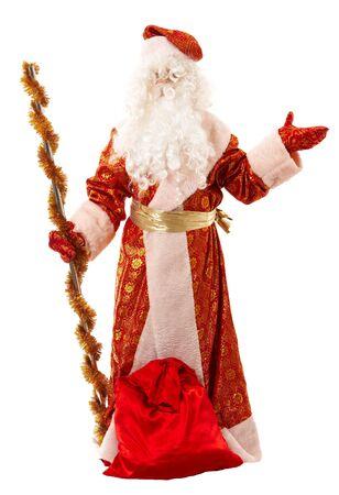 jack frost: Jack Frost. Tradicionales de Santa Claus aislados sobre fondo blanco. Foto de archivo