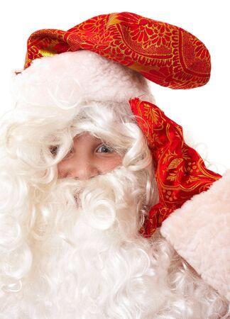 jack frost: Jack Frost. Santa Claus beb� de cerca. Foto de archivo