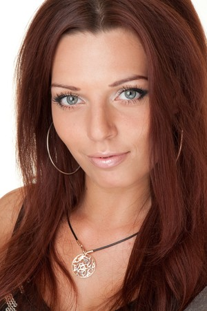 Female portrait. Sexy young woman close up.