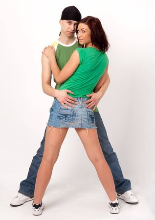Boy and girl. Happy young couple. Stock Photo - 4264841