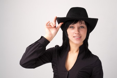 Smiling cowgirl in cowboy hat close up Stock Photo - 4341353