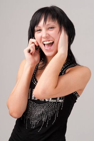 Young woman with mobile phone close up Stock Photo - 4341359