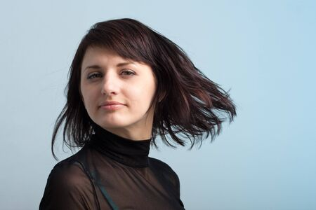 Attractive young woman with hair flying Stock Photo - 4427245