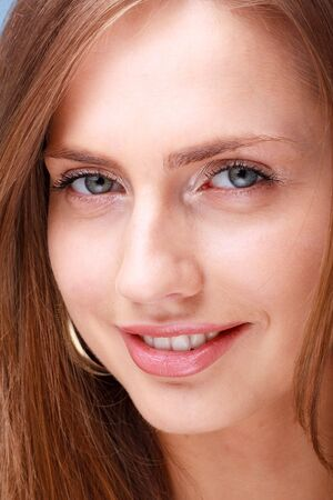 Female portrait. Smiling blond woman close up Stock Photo - 4630648