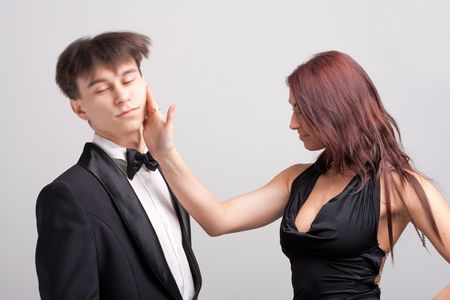 Slap in the face. Quarrelling man and woman. Stock Photo - 4977929