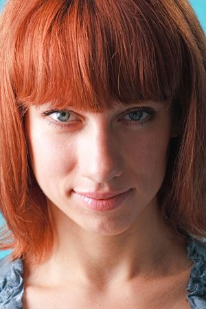 Beautiful red haired woman close up Stock Photo - 5258441