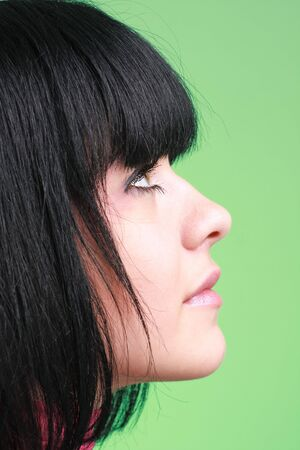 Female profile. Attractive young woman close up. photo