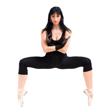 Gymnast girl posing against isolated white background Stock Photo - 15548108