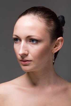 Closeup portrait of a beautiful female model Stock Photo - 15547935