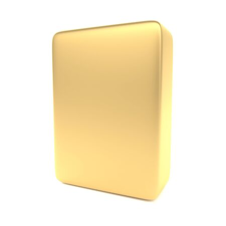 ebox: Gold blank box isolated on white  Ready to use in your designs