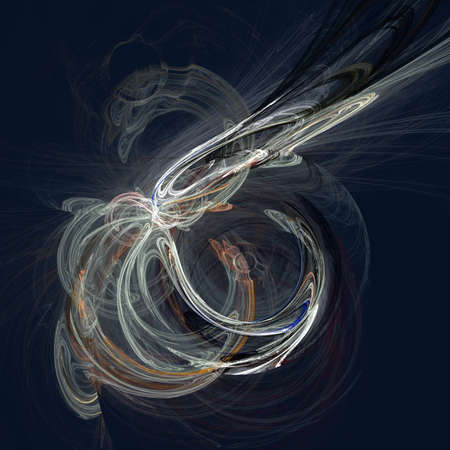 haze: Abstract fractal haze light multicolor background on deep blue Stock Photo