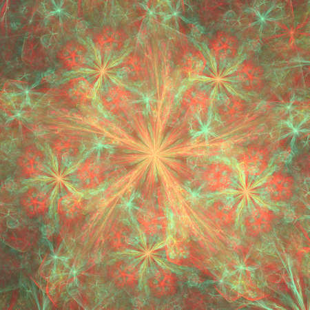 stellate: Colorful glowing abstract pattern, fractal for background