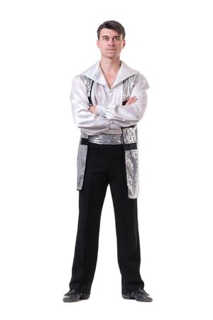modern ballet dancer: Young and stylish modern ballet dancer, isolated on white background. Full body.