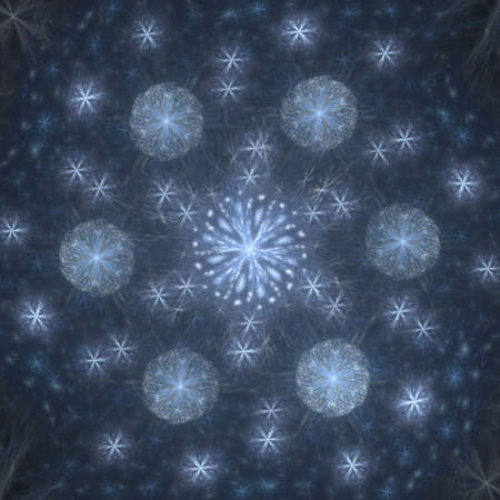 hoarfrost: Colorful glowing abstract pattern, fractal for background
