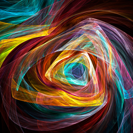 Colorful glowing abstract pattern, fractal for background