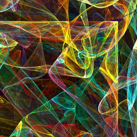 fractal: Colorful glowing abstract pattern, fractal for background