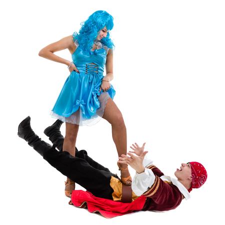 Couple ready to party on Halloween Stock Photo