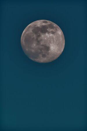 Full moon in the dark night. Taken on 3 December 2019 from Europe. Very noisy, but more details.
