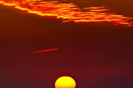 Fantastic soft clouds at sunrise