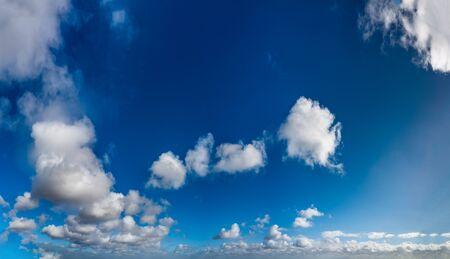Fantastic soft clouds against blue sky, natural composition