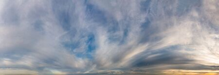 Fantastic soft clouds at sunrise, natural composition