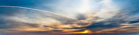Fantastic clouds at sunrise Standard-Bild - 153216982