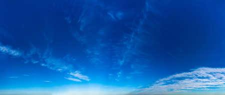 Fantastic clouds against blue sky, panorama Standard-Bild - 164721794