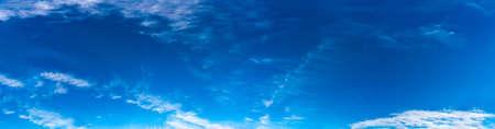 Fantastic clouds against blue sky, panorama Standard-Bild - 164721820
