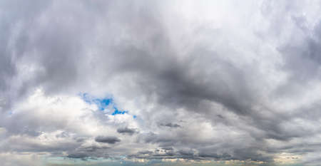 Fantastic clouds against blue sky, panorama Standard-Bild - 164721846