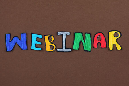 paper cut out: Colorful paper cut out word Webinar