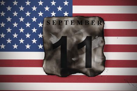 September 11 burnt calendar