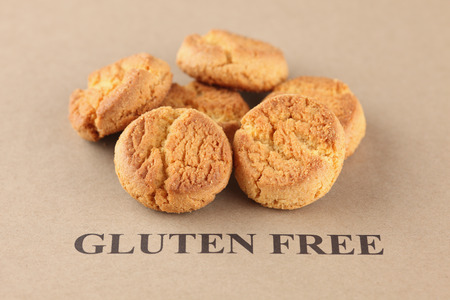 celiac: Gluten Free Cookies. Celiac Disease concept. Stock Photo