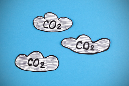 carbon dioxide: Carbon Dioxide Clouds (CO2). Image was hand drawn and paper cut-out by myself.