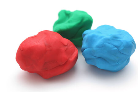 child's: Colorful childs play clay (Red, Green, Blue).