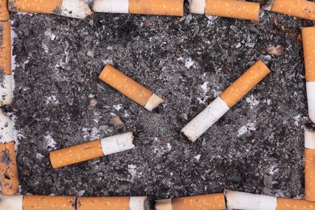 bad color: Cigarette butts frame.