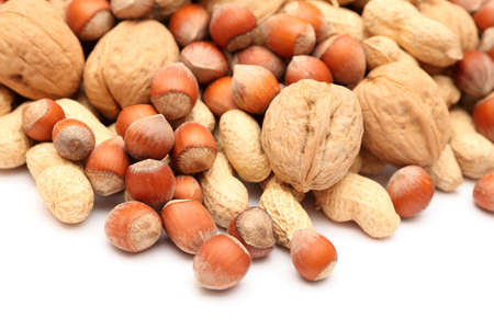 nutshells: Nuts Mix. Close-up. Stock Photo