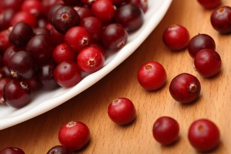 arandanos rojos: Cranberries primer plano