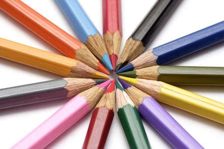 art activity: Colored crayon close-up