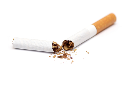 toxic substance: Close-up of broken cigarette