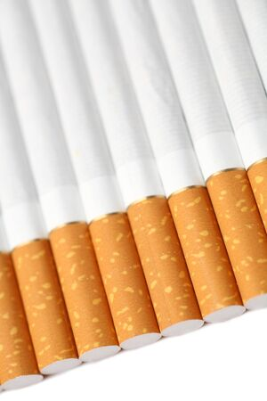 tipped: Close-up of filter tipped cigarettes