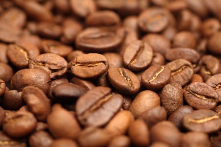 Coffee beans close-up. Stock Photo