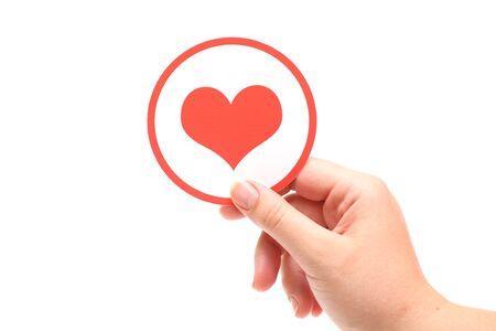 silhouette coeur: En forme de coeur dans les mains