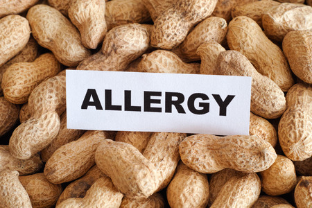 allergy: Peanut allergy. Conceptual image. Stock Photo