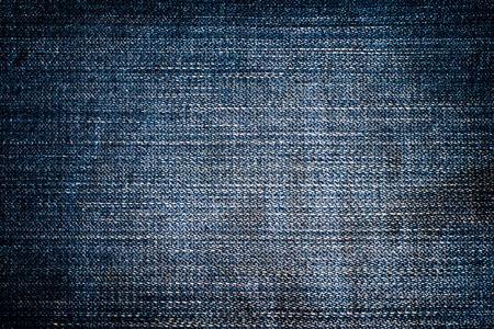 Blue jean background. Vignette.