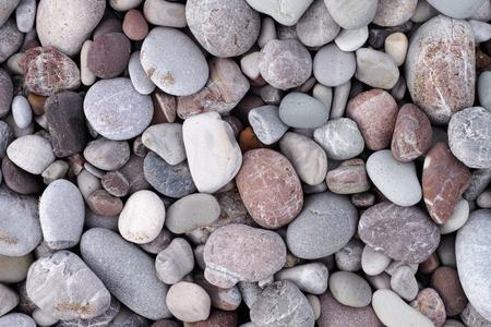 Sea stone background. Pile of stones. Archivio Fotografico