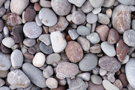 Sea stone background. Pile of stones. Stock Photo