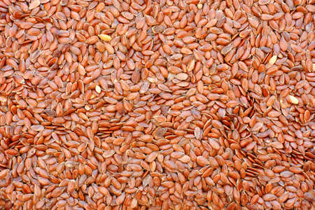 flax seeds: Flax seeds background. Close up. Stock Photo